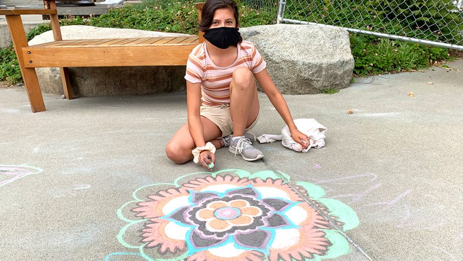 Sidewalk Chalk in the Outdoor Discovery Center